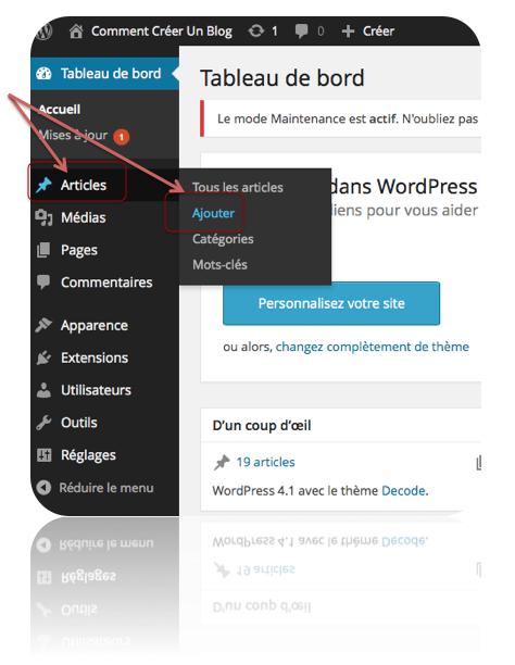 Comment créer un article sous wordpress